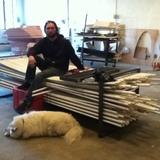 Bench/PVC storage device by Farid Rakun as storage rack