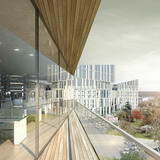 View from balcony (Image: Henning Larsen Architects)