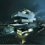 New NCCA by by Heneghan Peng Architects. Image/Visualization by Luxigon
