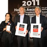 Holcim Bronze Award: Salima Naji, Morocco; Martin Rauch, Lehm Ton Erde Baukunst, Austria; and Elmar Nägele, Nägele Waibel Architects, Austria.