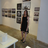 Nathalie Frankowski at the exhibition opening
