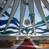 Cathedral of Brasília, Brasília (interior) via WikiMedia
