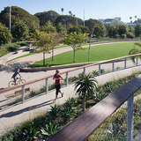 Landscape Architecture Award: Tongva Park & Ken Genser Square. Landscape Architect: James Corner Field Operations. Photo courtesy of 2014 L.A. Architectural Awards