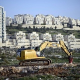 "The Israeli settlement of Har Homa in East Jerusalem – Riba says the IAUA is complicit in land grabs, forced removals … and reinforcement of apartheid"". (The Guardian; Photograph- Mahmoud Illean:Demotix:Corbis)"