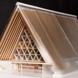 A model of the Cardboard Cathedral.