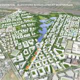 URBAN DESIGN PLANS: Blatchford Redevelopment Masterplan (Edmonton, AB) by Perkins+Will Canada. Image: Perkins+Will