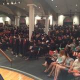 Students turn their backs on President Jamshed Bharucha at the 2015 Commencement Ceremony. Image via Free Cooper Unions Facebook page.
