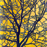 No title [Trees with yellow background], 2011. Watercolor on handmade paper, cm 102 x 153. Property of Studio Calatrava © Santiago Calatrava