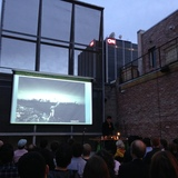Ma Yansong presents his work at Space 15 Twenty in Hollywood. Photo credit: Amelia Taylor-Hochberg