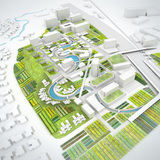Urban Design Merit Award Winner: agri-CULTURE: Richardson Mixed Use Development in Richardson, TX by SAMOO Architecture PC, New York (Image Credit: SAMOO Architecture)