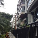 typical apartment building street front in Rio de Janeiro via Ian WIlson