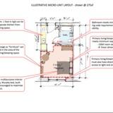 llustrative Micro-Unit Layout @275 sf via adAPT NYC