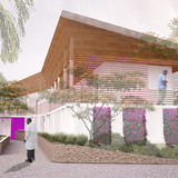 GHESKIO Tuberculosis Hospital, currently under construction in Port-au-Prince, Haiti (Photo: MASS Design Group)