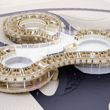 Model - The Myrtle Garden by graft lab architects and penda. Image courtesy of penda.