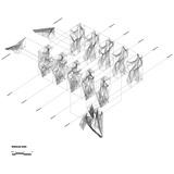 Axonometric of Oyler Wu Collaboratives The Cube. Image © Oyler Wu Collaborative
