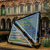 Prototype of the Urban Algae Canopy by ecoLogicStudio with Cesare Griffa. Photo courtesy of ecoLogicStudio