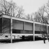 Farnsworth House, via Wikimedia Commons