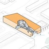 Diagram- interior void + mass. Illustration courtesy of Trahan Architects