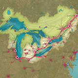 The Great Lakes Century – a 100-year Vision; Great Lakes Region, United States (Image: Skidmore, Owings and Merrill)