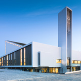 Frøyland Orstad Church in Kverneland, Norway by Link Arkitektur; Photo: Hundven-Clements Photography