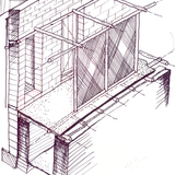 Dakhleh Excavation House in Dakhleh, Egypt by Utopus Studio (drawing)