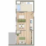 Santa Monica micro-apartment, courtesy of NMS Properties.
