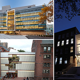 via Pratt Institute (Clockwise from L: Myrtle Hall (opened in 2010) by WASA/Studio A, The Juliana Curran Terian Design Center (opened in 2007) by Thomas Hanrahan and Victoria Meyers of hanrahan Meyers architects, and Higgins Hall Center Section (opened in 2005) by Steven Holl Architects on Pratt's...