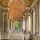 The Prospect Park Tennis Shelter in Brooklyn is an example of how the Gustavino Company offered their design suggestions to the arthitectural firms, who in turn adopted Guastavino designs with few changes. The shelter was designed by the arhitectural firm Helmle and Huberty. Photo © Michael...
