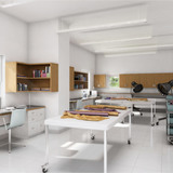 Rendering of the new textile conservation lab (Photo: Aniphase)