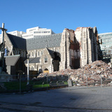 The original Christchurch Cathedral was substantially destroyed in a February 2011 earthquake.