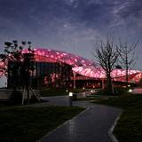 Night view of art pavilion. Photo: Ryuji Miya. Image courtesy of Chris Y.H. Chan