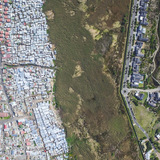 Masiphumelele / Lake Michelle, Cape Town, South Africa, from the drone photo series Unequal Scenes by Johnny Miller.