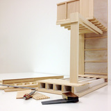 Scale model under construction. Photocredit courtesy of Page \ Park Architects.