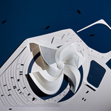 Model of the competition entry 'Whirlpool' (Image: 3XN)