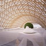 Japan Pavilion, Expo 2000 Hannover, 2000, Germany. Photo by Hiroyuki Hirai