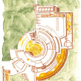 Richard Meier, The Getty Center / I-Research Institute ed.11/20. Spring 1998, Tyler Graphics Print | Original lithograph print on paper, 20.5 x 28