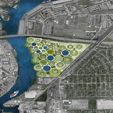 Located just east of the I-610 belt, the site of the proposal fi nds itself at the confl uence of the urban, the suburban, and the industrial. Continually growing towers of remediation make up the new development. Vegetation covers the earthy material held within the lock, a new type of...