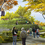 Rendering of the Western Trailhead at Ridgeway from the cul-de-sac. Image via the606.org