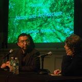 Fujimoto with moderator, Annabelle Selldorf. Photo: Natalie Hein.