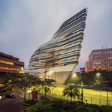 World Architecture Festival Awards 2014 shortlist - Higher Education And Research category: Jockey Club Innovation Tower by Zaha Hadid Architects from United Kingdom. Photo courtesy of World Architecture Festival Awards 2014