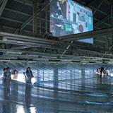 The 5F horizontal lighting shield by architect Hideyuki Nakayama. Photo: Takumi Ota. Image courtesy of Eizo Okada.