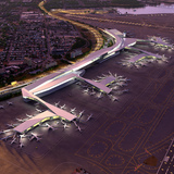 Airside aerial view. Rendering © New York Governors Office, via flickr.