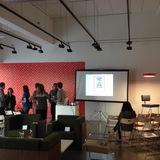 Learning by Doing at the Farm book release event at A+D Museum. Photo credit: Amelia Taylor-Hochberg.