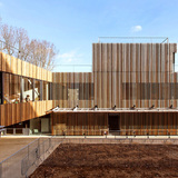 School Center Lucie Aubrac in Nanterre, France by DFA | Dietmar Feichtinger Architectes
