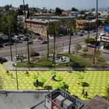 Rios Clementi Hale Studio's Sunset Triangle parklet in Silverlake, image via Inhabitat.com