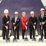 (From Left): Anoushka Borghesi, Giorgio Armani Global Head of Press; Jose E.B. Antonio, Chairman of Century Properties Group, Inc.; Nina Libeskind, Chief Operating Officer, Studio Daniel Libeskind; Daniel Libeskind, Founder and Principal Architect, Studio Daniel Libeskind; and Robbie Antonio...