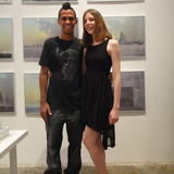 WAI co-directors Cruz Garcia and Nathalie Frankowski at the exhibition opening