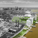 Reinventing the Crescent: New Orleans Riverfront Development Plan. Rendering courtesy of Hargreaves Associates.