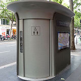 A Parisian 'Sanisette' or self-cleaning toilet. Credit: Wikipedia