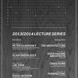 Poster for the SDSU Department of Architecture's Fall '13 and Spring '14 lecture series. Image courtesy of SDSU.